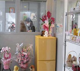お花がたくさん飾られた店内風景