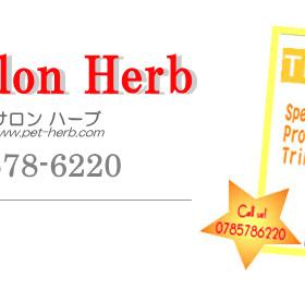 ウェルカム!ペットサロンハーブのメッセージと電話番号
