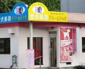 黄色と青の看板の店舗