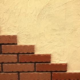レンガ調のお店壁イメージ